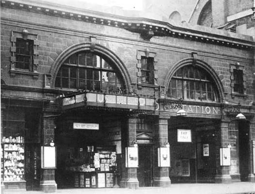 Brompton Road station in the 1920s